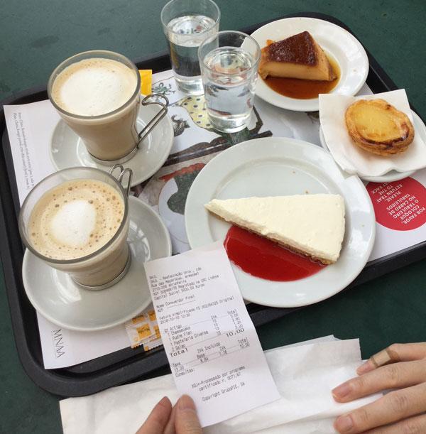 リスボン、国立古美術館のカフェ