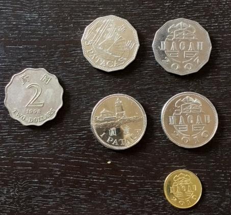 マカオのおもしろいコイン