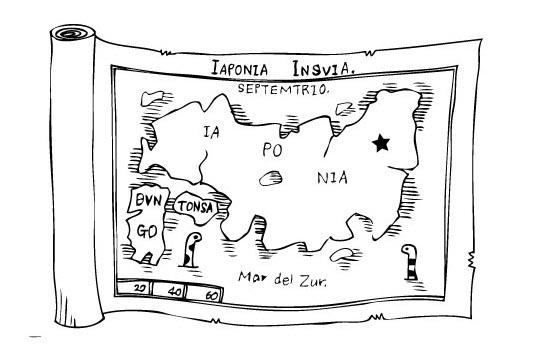 中世ふう地図